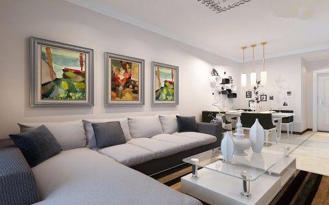 客厅沙发现代简约风格装修效果图