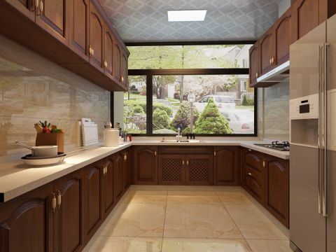 厨房背景墙欧式风格装饰效果图