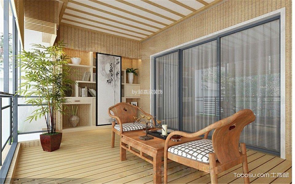 阳台黑色推拉门现代风格装修设计图片