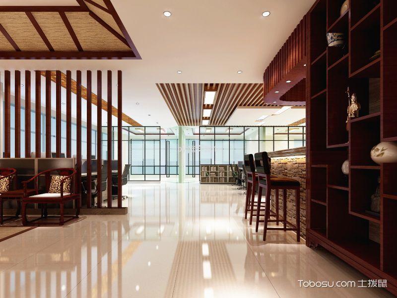 350平米中式办公室过道装潢图片欣赏