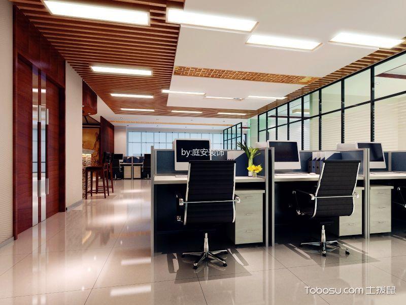 350平米中式办公室办公区过道装潢效果图欣赏