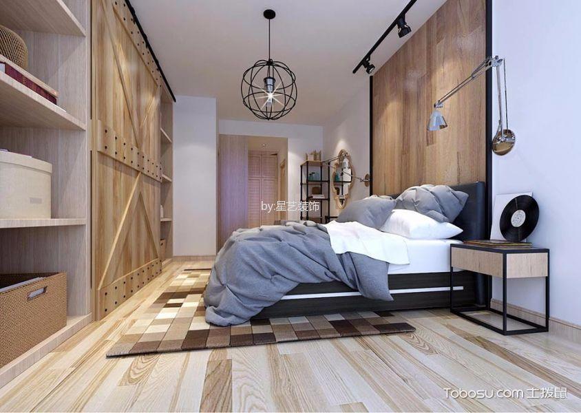 卧室黄色背景墙北欧风格效果图