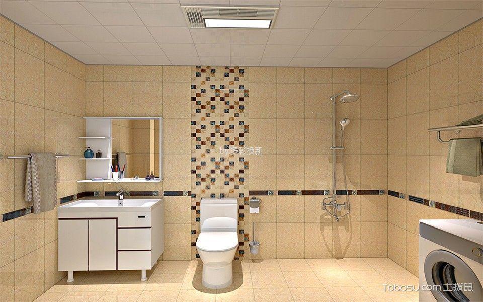 卫生间白色吊顶现代简约风格效果图