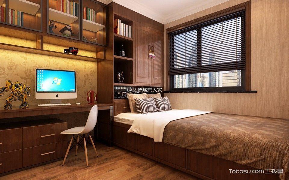 卧室咖啡色榻榻米欧式风格效果图