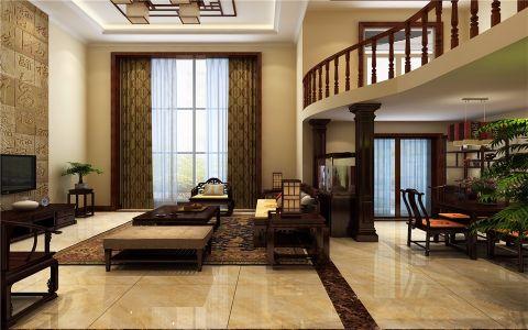 客厅窗帘中式风格装饰效果图