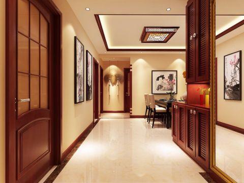 玄关背景墙新中式风格装潢效果图