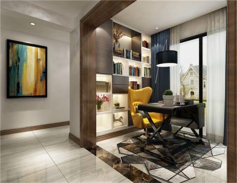 书房窗帘现代风格装修图片