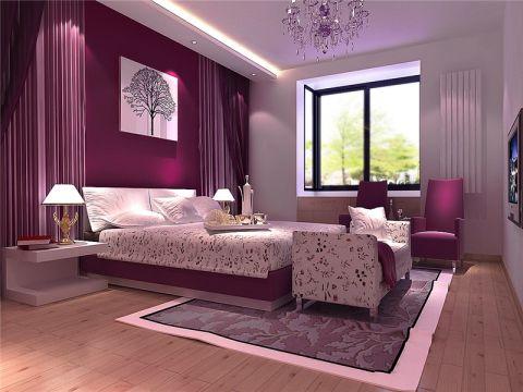 现代简约风格134平米三室两厅室内装修效果图