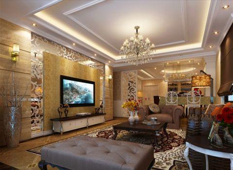 欧式风格155平米三室两厅室内装修效果图