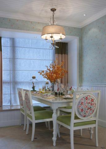 餐厅吊顶田园风格装潢设计图片