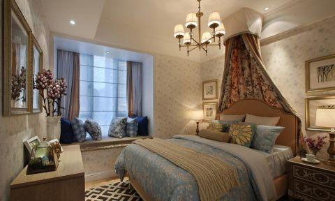 卧室吊顶田园风格装修效果图
