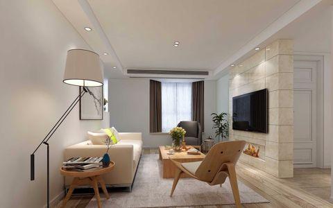 现代风格105平米三室两厅室内装修效果图