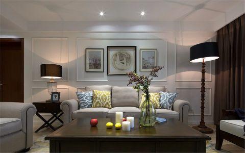 美式风格115平米三房两厅新房装修效果图