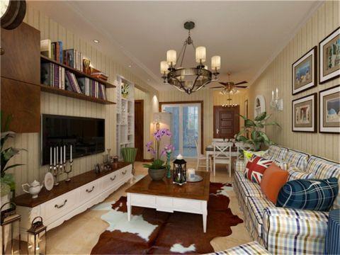田园风格88平米3房2厅房子装饰效果图