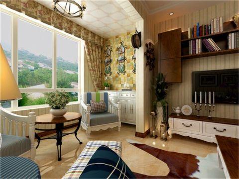 客厅窗帘田园风格效果图