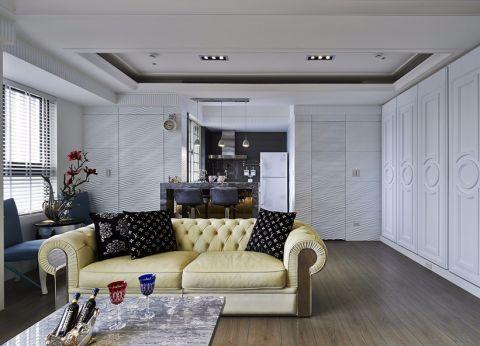 客厅窗帘欧式风格装饰图片