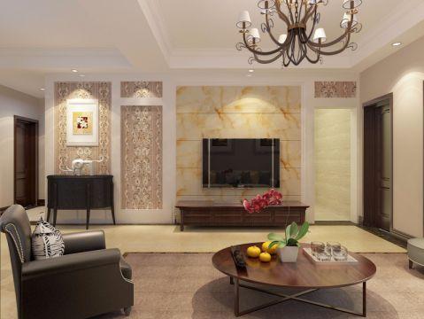 欧式风格120平米大户型新房装修效果图