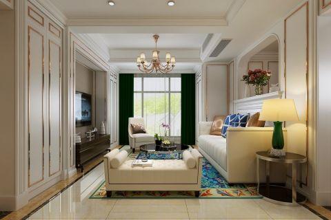 美式风格142平米三房两厅新房装修效果图