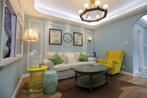 美式风格85平米两室两厅室内装修效果图