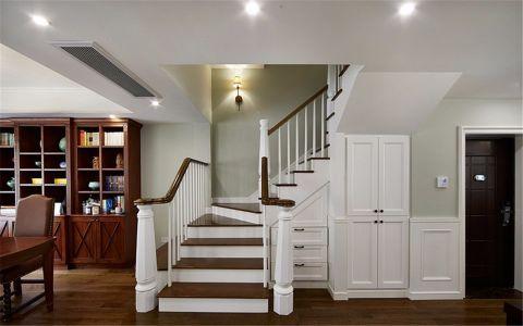 客厅楼梯新中式风格装潢设计图片