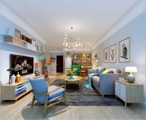 北欧风格90平米小户型新房装修效果图