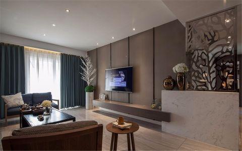 现代简约风格113平米三房两厅新房装修效果图