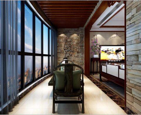 阳台吊顶中式风格装潢设计图片