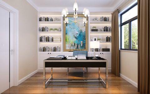 书房博古架现代简约风格装潢图片