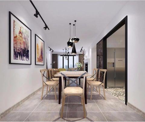 餐厅吊顶北欧风格装饰设计图片