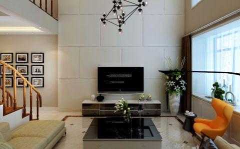 现代简约风格210平米楼房室内装修效果图
