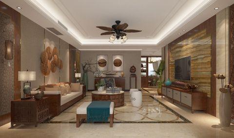 中式风格250平米复式房子装饰效果图