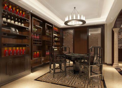 餐厅吊顶中式风格装饰设计图片