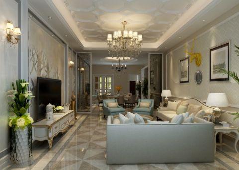 欧式风格420平米别墅室内装修效果图