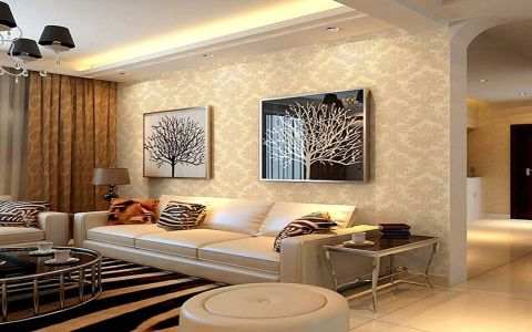 现代简约风格114平米三室两厅室内装修效果图