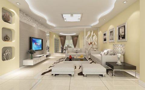 现代简约风格84平米2房2厅房子装饰效果图
