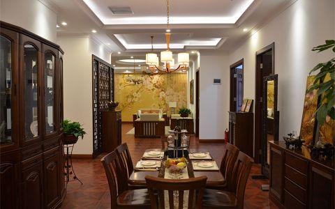 中式风格100平米两房两厅新房装修效果图
