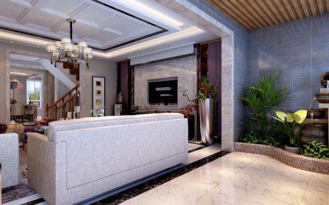 客厅吊顶现代简约风格装饰效果图
