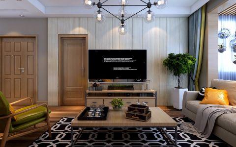 北欧风格130平米楼房房子装饰效果图
