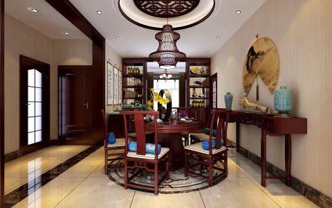 餐厅背景墙中式风格装潢效果图