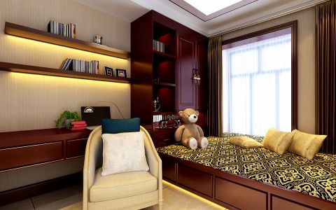 卧室博古架中式风格效果图