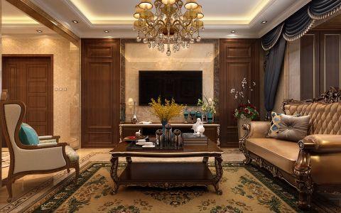 欧式风格140平米三房两厅新房装修效果图