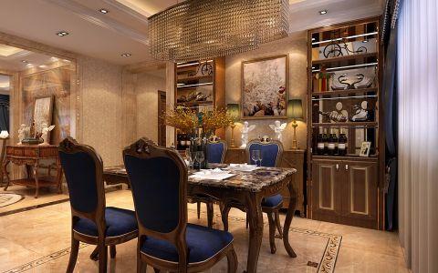 餐厅博古架欧式风格装潢图片