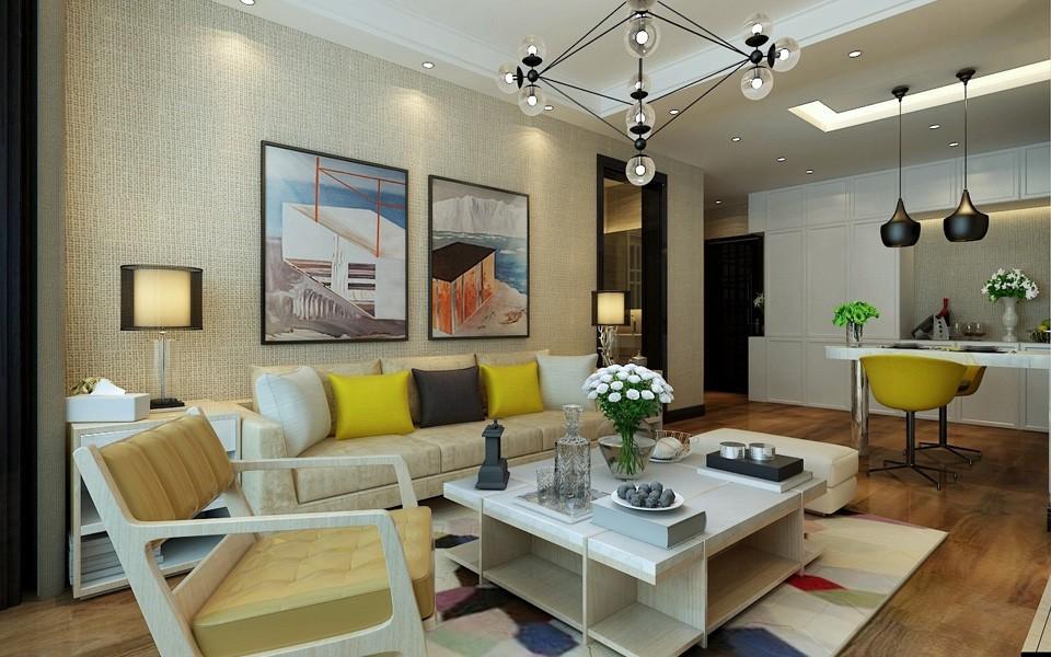 2室1卫2厅70平米现代简约风格