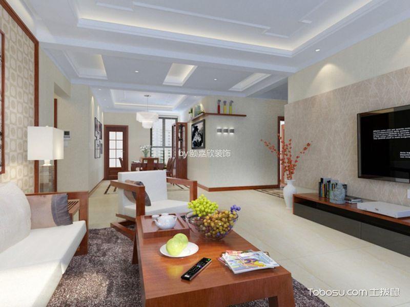 现代中式风格180平米3房2厅房子装饰效果图