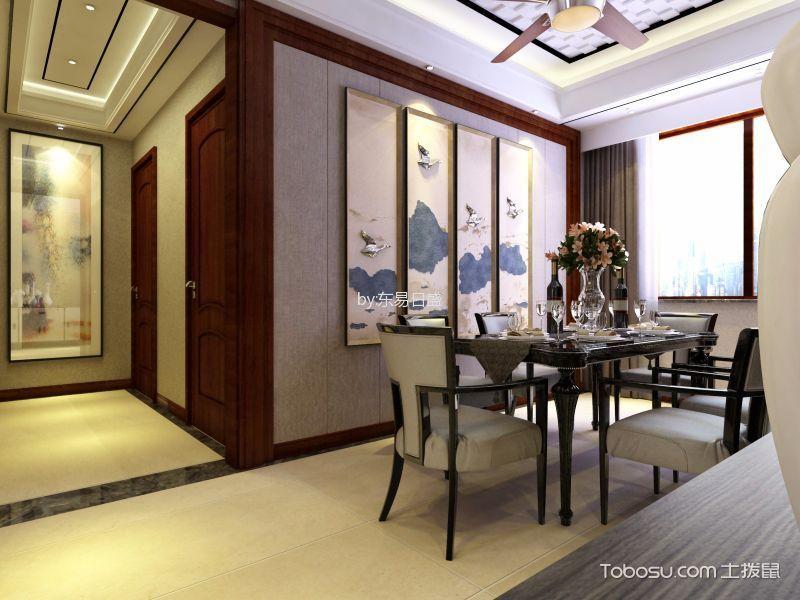 餐厅灰色窗帘现代简约风格装修设计图片