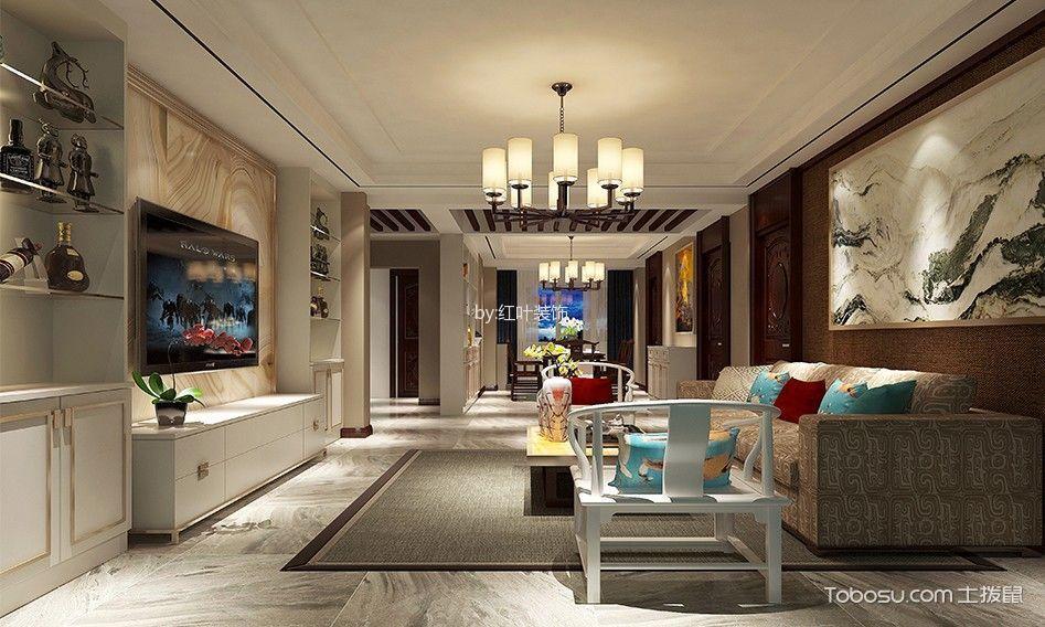 现代简约风格134平米3房2厅房子装饰效果图
