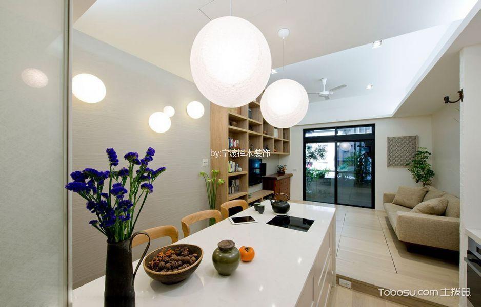 厨房白色灯具现代风格装潢设计图片