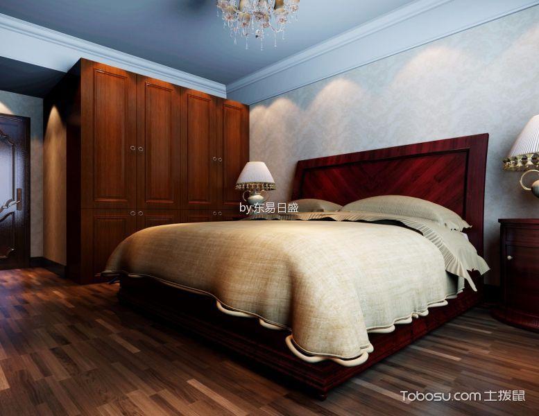 卧室咖啡色衣柜现代风格装修图片