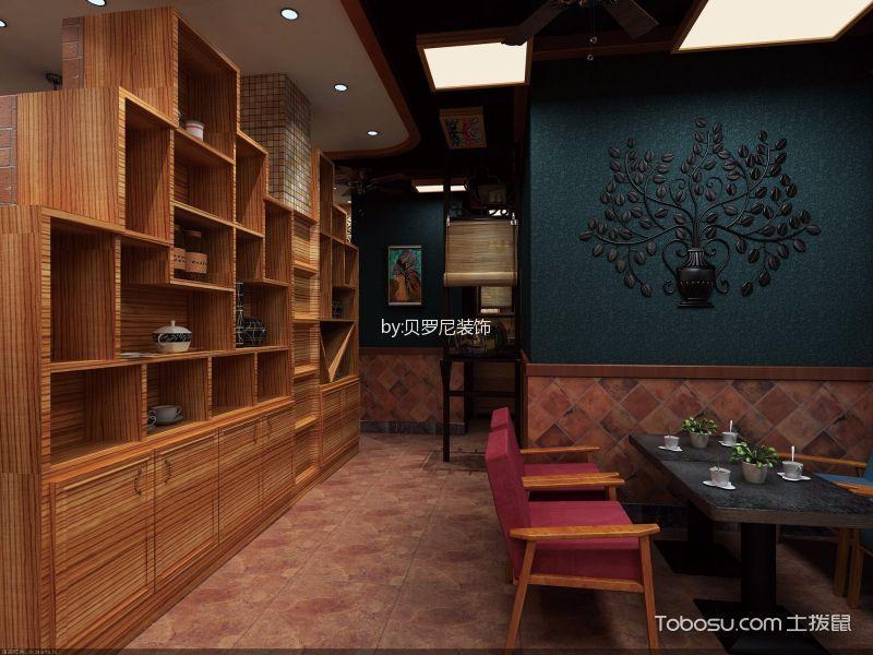 美式乡村风格AS咖啡厅一角装潢设计图片