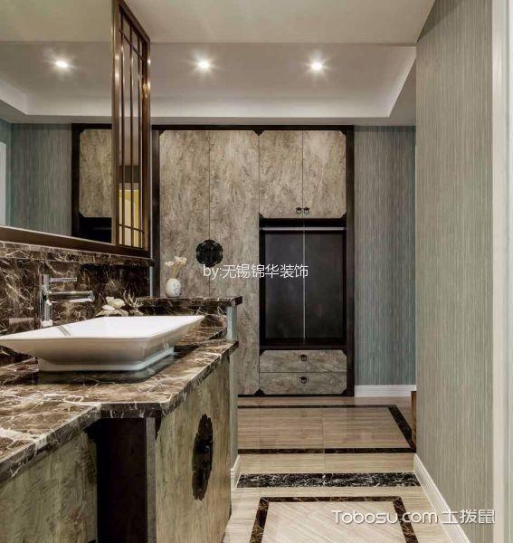 卫生间白色吊顶新中式风格装潢效果图